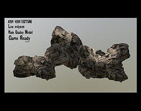 Rocks 3D asset game-ready mount