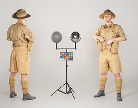 Australian infantryman character from World War 3D asset 2