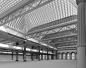 3D Empty Spacious Hall