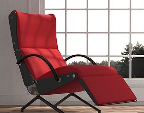 Red lounge sofa 3D