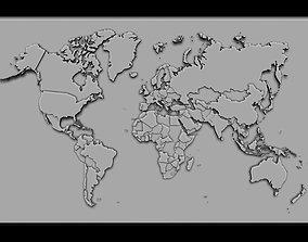 3D print model island World Map