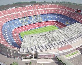Camp Nou Barcelona Stadium 3D