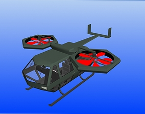 3D rigged Helicopter game