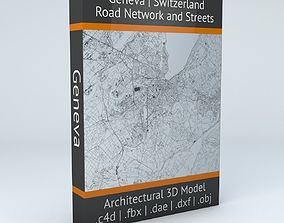3D model Geneva Road Network and Streets