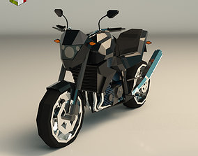 Low Poly Motorcycle 06 3D model