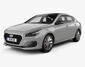 3D model Hyundai i30 fastback 2017
