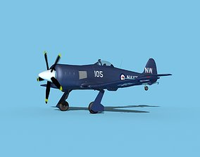 Hawker Sea Fury V12 Royal Australian Navy 3D model