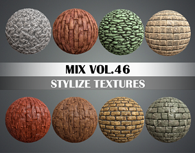 Stylized Ground Mix Vol 46 - Hand Painted Texture 3D asset