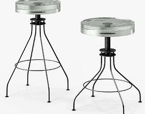 3D asset Holly Hunt Glass Stool