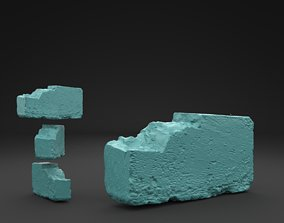 Scanned Old Brick 3D printable model