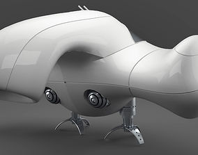 spaceship 3D asset