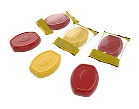3D Blank candy plastic package mock up 02