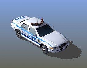 newyork 3D model Police Patrol Car