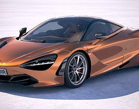 hypercar McLaren 720S 2018 3D