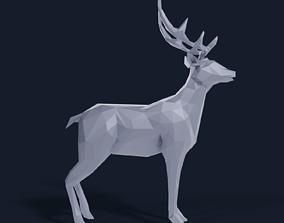 Low Poly Deer 3D asset realtime