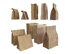 Paper packets bag 3D