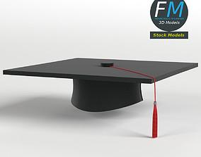 3D Square academic cap