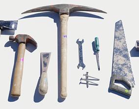 Garage Tools Set 3D asset low-poly