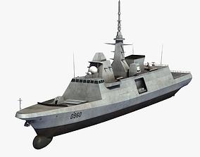3D model warship FREMM Aquitaine