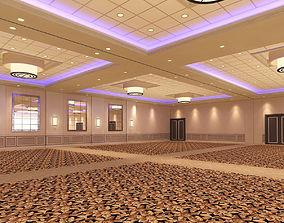 Hotel Ballroom 3D model