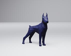 Low Poly Dobermann 3D print model