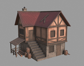 3D model realtime Medieval inn