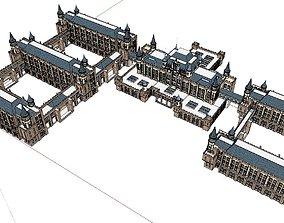 Office-Teaching Building-Canteen 36 3D model