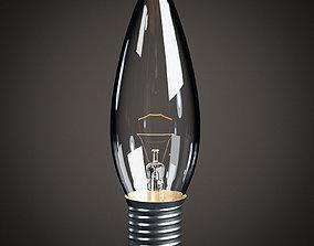 3D asset Lightbulb - Medium Base Candelabra Bulb