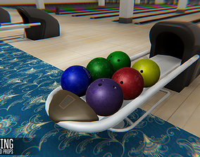 Bowling - interior and propsBowling - interior 3D asset 1