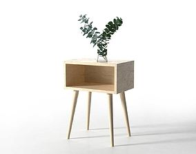 3D Side Table with Eucalyptus wooden