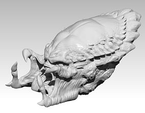 Detailed Monster Head 3D print model