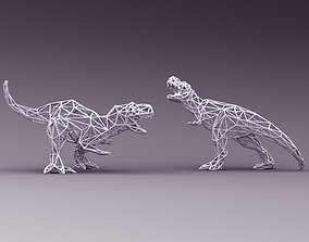 3D PRINTED MODEL T-REX 3D-Line-cuts -pattern
