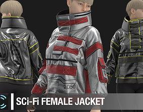 3D model Sci-Fi Female Jacket Marvelous Designer
