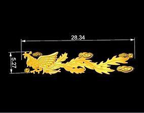 Golden Phoenix For Ring Watch Bracelet 3D printable model