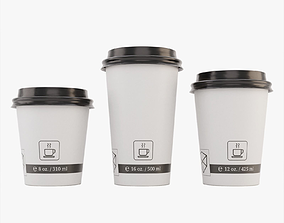 Paper Coffee Cups 3D model
