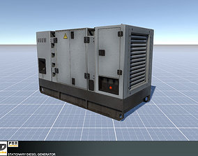 3D model Stationary Diesel Generator
