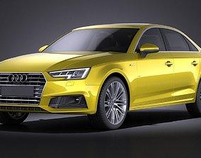 Audi A4 S-Line Sedan 2016 VRAY 3D model