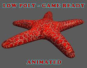 3D asset Low Poly Starfish Animated - Game Ready
