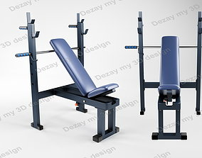 3D Gym Bench with Squat Stand