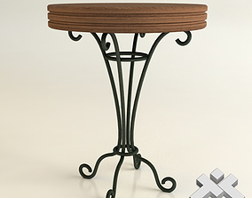 3D Wrought Iron Round Table D60cm