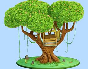 Tree Cartoon 3D model landscape