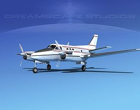 3D model Beechcraft King Air 100 V01