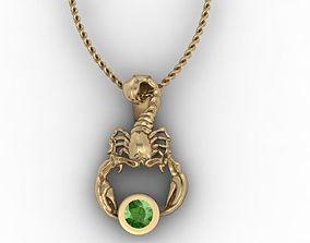 jewellery scorpion pendant 3D print model
