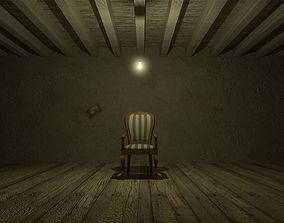 Chair - Dark - Escene 3D model