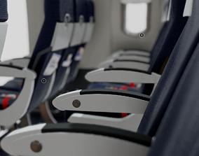 a320 3D Airbus A320 Airplane Cabin