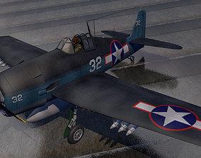 Grumman F6F-3 Hellcat 3D model