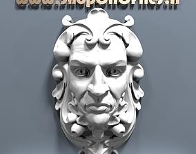 3d human head sculpture