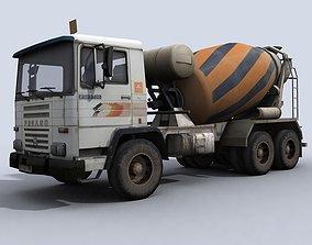 3D asset Concrete Mixer Truck