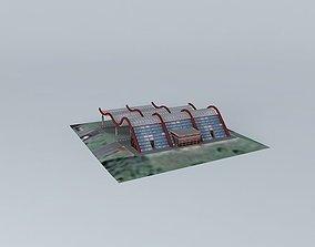 Gas station Dejtonka Novi Beograd 3D model