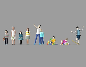 3D model Low Poly Kid Pack